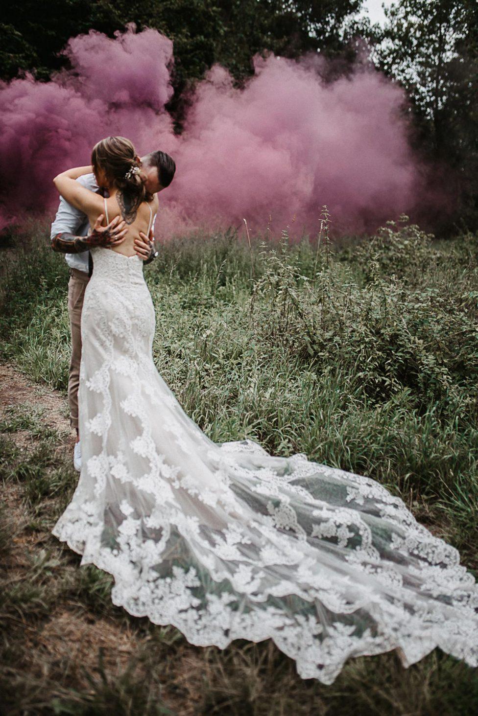 Pumpenhaus Moers: Boho-Hochzeit mit viel DIY-Detailliebe