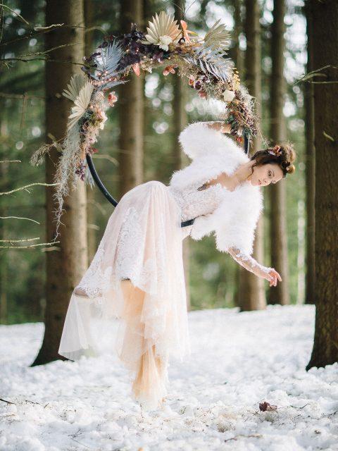 So zauberhaft kann eine Winterhochzeit aussehen