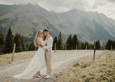 Elegante standesamtliche Trauung in der Schweiz