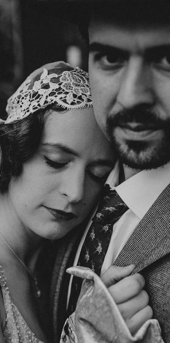 Außergewöhnliche 30er-Jahre Vintage-Hochzeitsinspiration