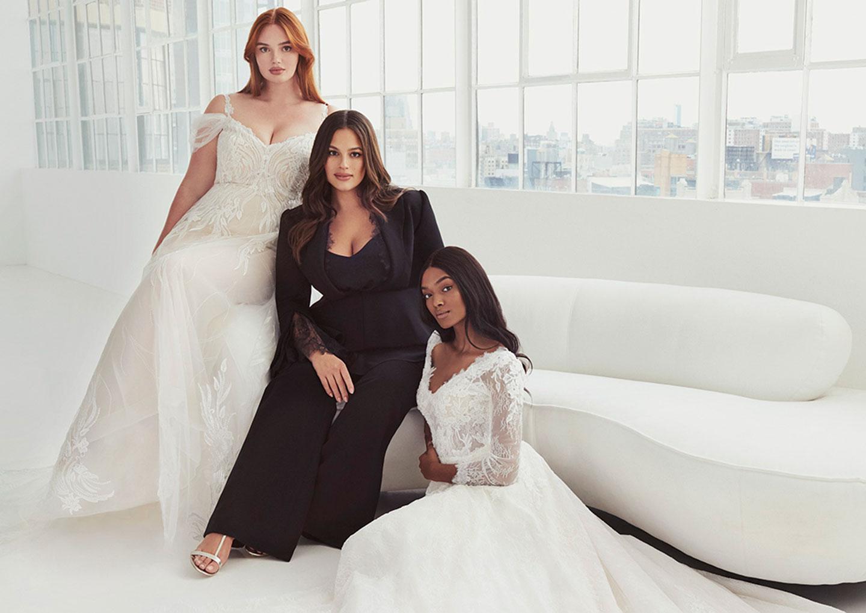 Kurvige Hochzeitsmode in grosser Vielfalt