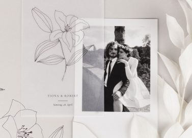 Transparente Hochzeitseinladungen von Rosemood
