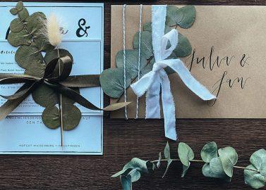 Eure Hochzeitseinladungen hübsch verpackt