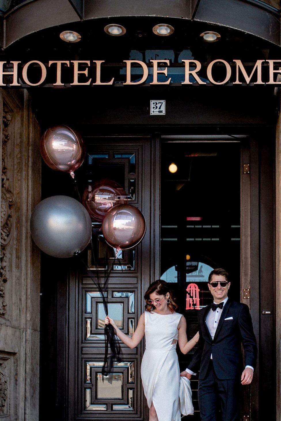 Urbane Hochzeitsidee im Berliner Hotel de Rome