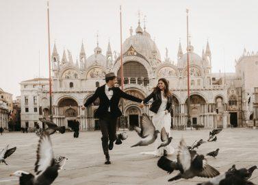 Wild romantisch heiraten in Venedig