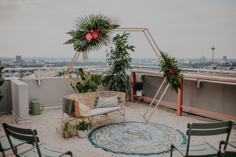 Hochzeitsinspiration: Über den Dächern von Köln