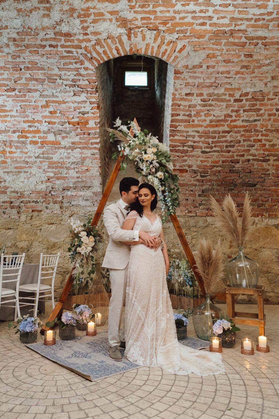 Boho-Hochzeitsstil im Schloss Erbach