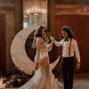 Sonne, Mond & Sterne – ein festliches Hochzeitskonzept