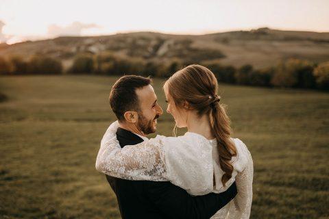 Destination-Hochzeitsinspiration in der toskanischen Villa Pienza