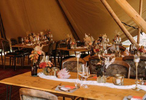 Wiesen Tipi-Hochzeit auf dem Hoher Darsberg