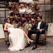 Schwarz & Kupfer: Hochzeitsinspiration im Industrial-Style