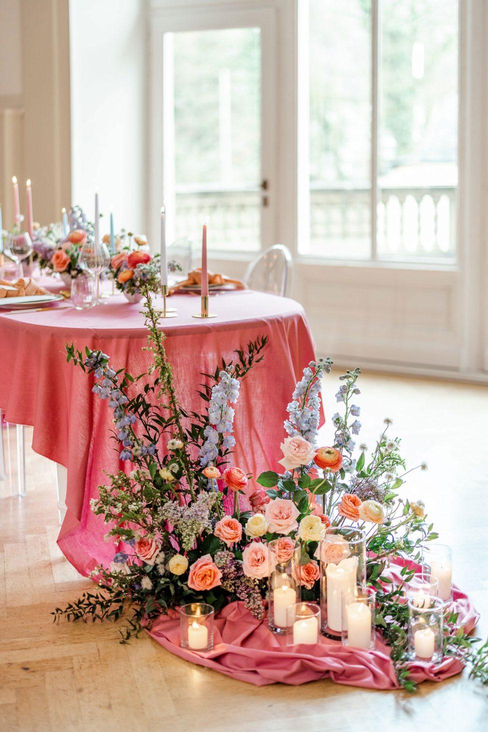 Schloss Eulenbroich: Knallige Farben und trotzdem elegant