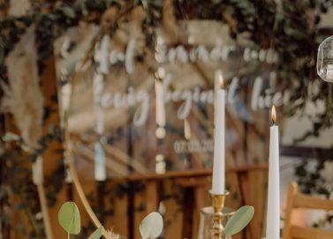 Greenery Weddingstyle im Gewächshaus