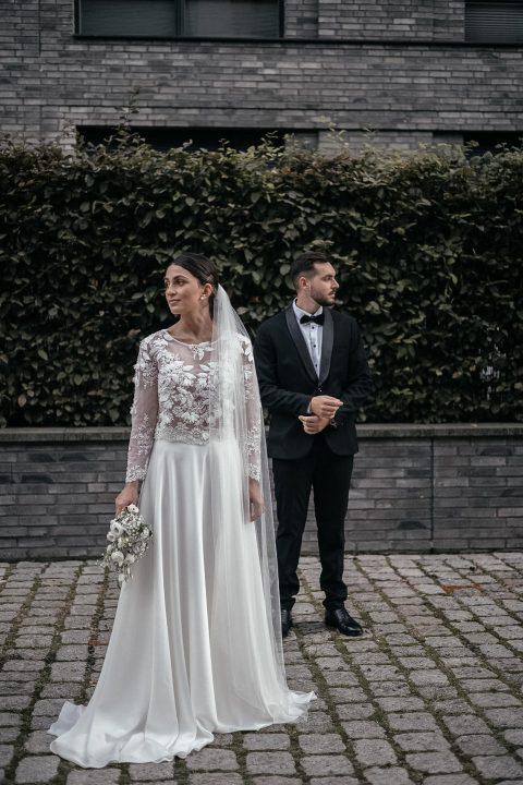 Eine Braut im Kleid von Jurgita Bridal