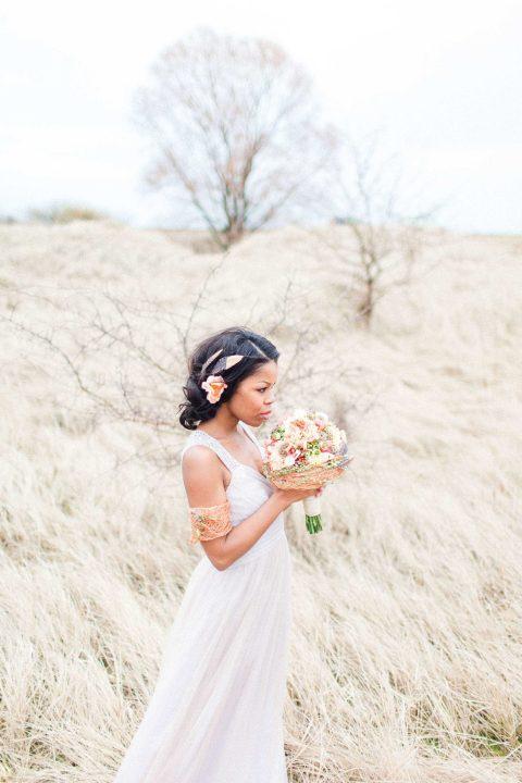 Frühlingsfrischer Bridal Look in Rosegold