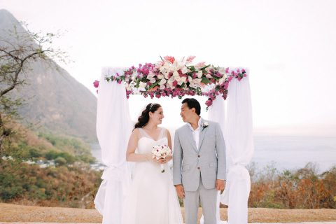 Überromantische St Lucia Destination-Hochzeit